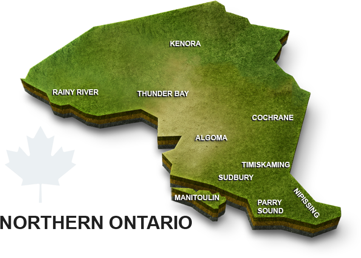 Map Of Kenora Canada.Databid Coverage Area Ontario